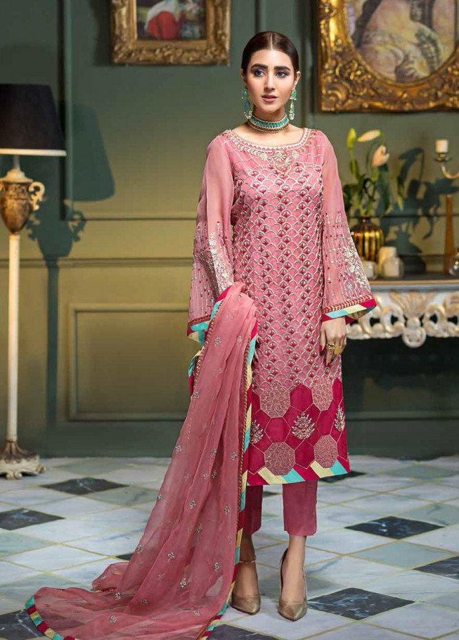 Chimmer by Charizma Embroidered Organza Unstitched 3 Piece Suit CRZ21-C3 20 - Festive Collection