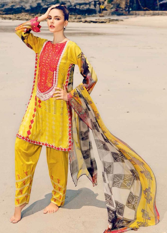 Beyond Casuals By Charizma Embroidered Lawn Unstitched 3 Piece Suit CRZ21C 41 - Summer Collection