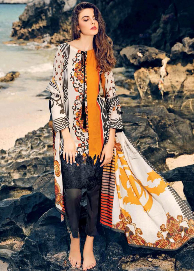 Beyond Casuals By Charizma Embroidered Lawn Unstitched 3 Piece Suit CRZ21C 44 - Summer Collection