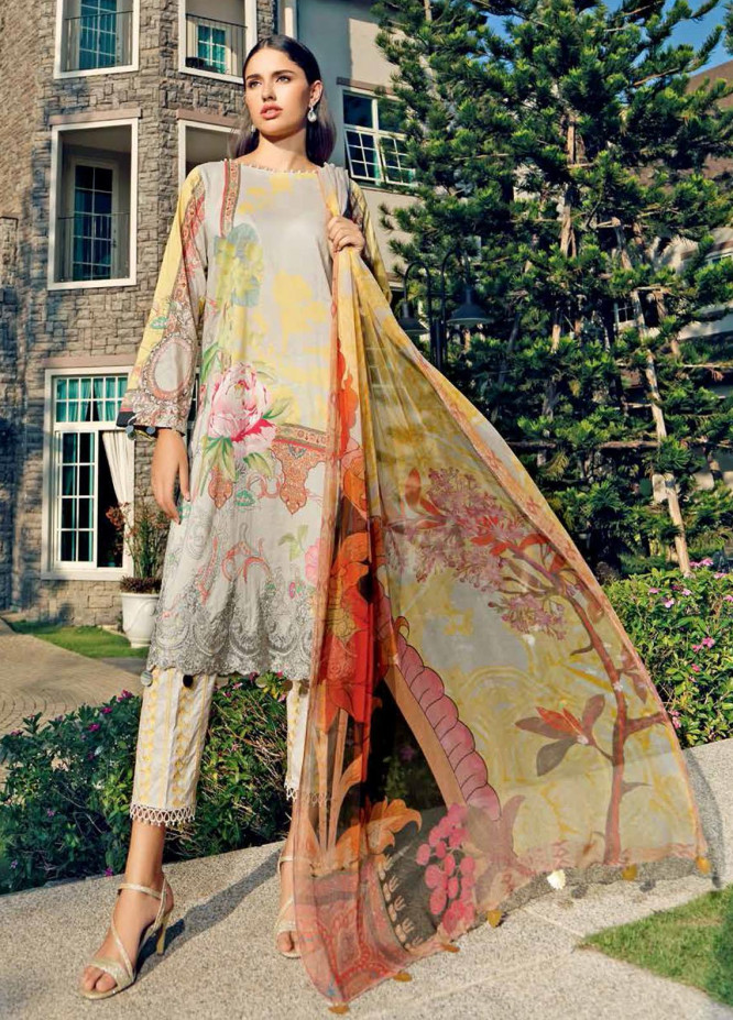Beyond Casuals By Charizma Embroidered Lawn Unstitched 3 Piece Suit CRZ21C 49 - Summer Collection