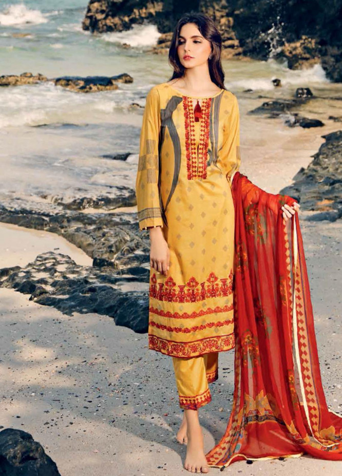 Beyond Casuals By Charizma Embroidered Lawn Unstitched 3 Piece Suit CRZ21C 50 - Summer Collection
