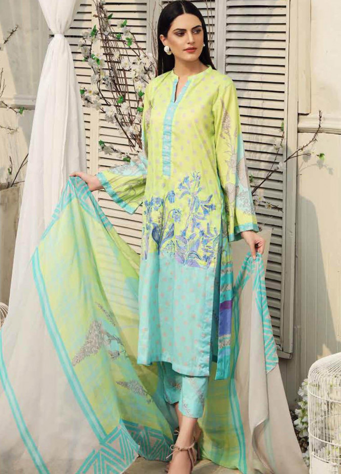 Charizma Embroidered Lawn Suits Unstitched 3 Piece CRZ21IF IN-32-A - Summer Collection