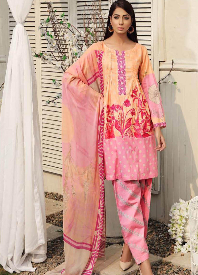 Charizma Embroidered Lawn Suits Unstitched 3 Piece CRZ21IF IN-32-B - Summer Collection