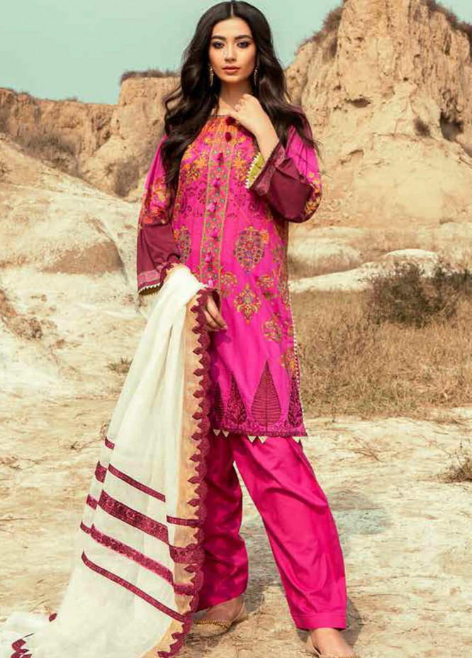 Charizma Embroidered Lawn Suits Unstitched 3 Piece CRZ21N-1 CN-01 - Summer Collection