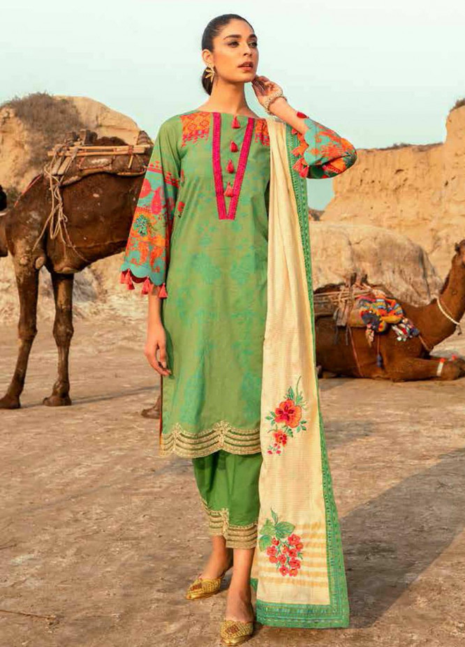 Charizma Embroidered Lawn Suits Unstitched 3 Piece CRZ21N-1 CN-09 - Summer Collection