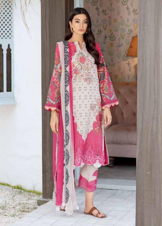 Naranji By Charizma Embroidered Lawn Suits Unstitched 3 Piece CRZ21-N2 14B - Summer Collection