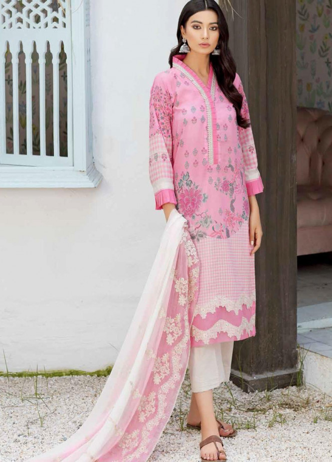 Naranji By Charizma Embroidered Lawn Suits Unstitched 3 Piece CRZ21-N2 15B - Summer Collection