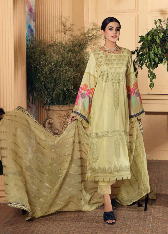 Naranji By Charizma Embroidered Lawn Suits Unstitched 3 Piece CRZ21-N2 17 - Summer Collection