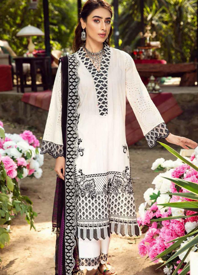Charizma Embroidered Lawn Suits Unstitched 3 Piece CRZ21BN EBL-08 - Summer Collection