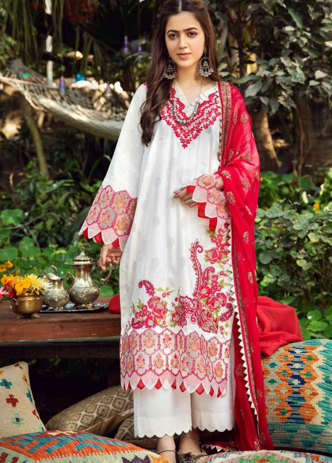Charizma Embroidered Lawn Suits Unstitched 3 Piece CRZ21BN EBL-09 - Summer Collection