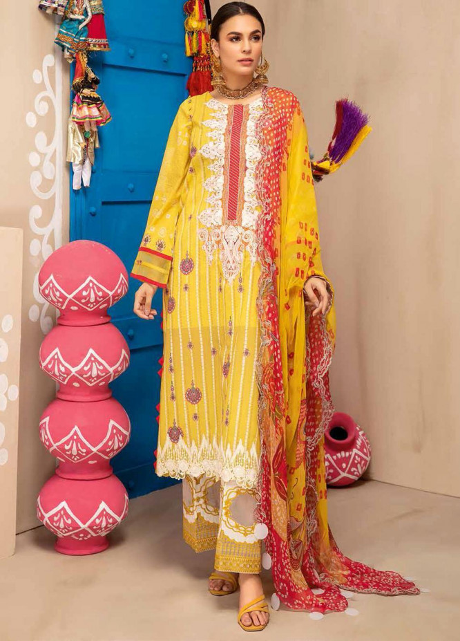 Chunri By Charizma Embroidered Lawn Suits Unstitched 3 Piece CRZ21CH 07 - Luxury Collection