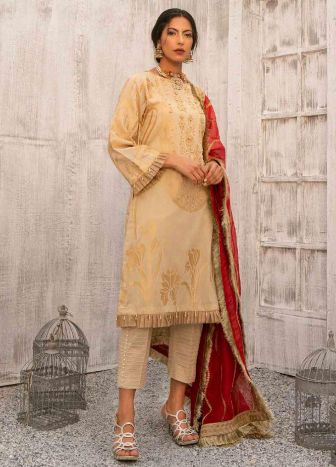 Charizma Embroidered Lawn Suits Unstitched 3 Piece CRZ21SJ 04 - Summer Collection