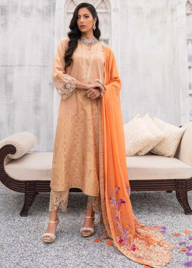 Charizma Embroidered Lawn Suits Unstitched 3 Piece CRZ21SJ 06 - Summer Collection