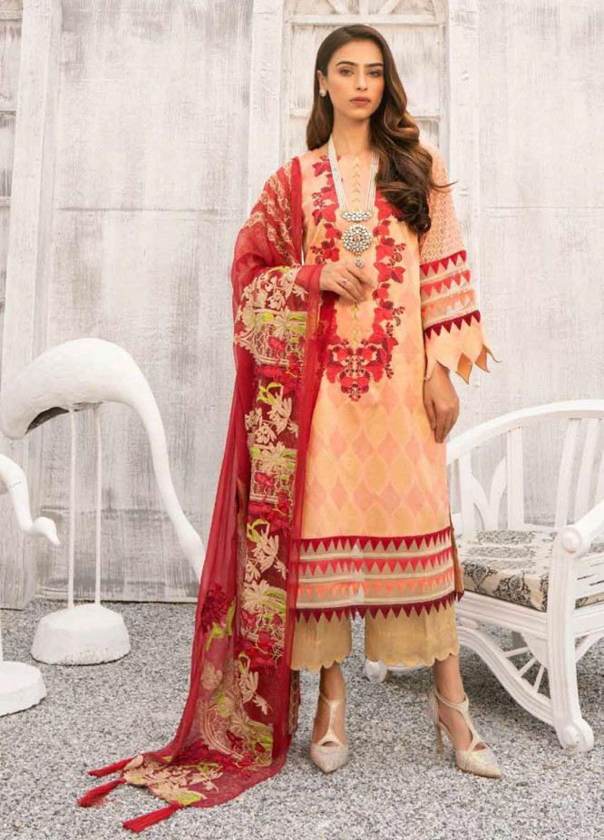 Charizma Embroidered Lawn Suits Unstitched 3 Piece CRZ21SJ 07 - Summer Collection