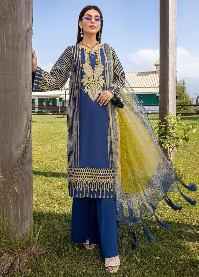 Charizma Embroidered Lawn Suits Unstitched 3 Piece CRZ21LS CSL-01 - Summer Collection