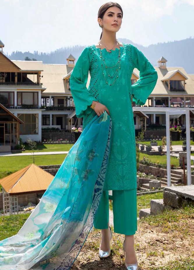 Charizma Embroidered Lawn Suits Unstitched 3 Piece CRZ21LS CSL-04 - Summer Collection