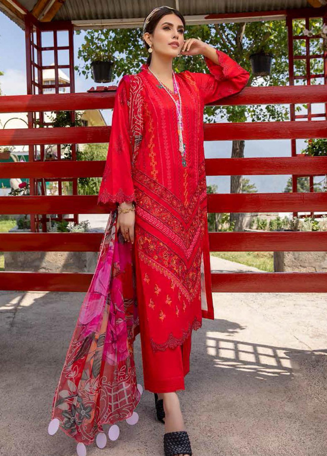 Charizma Embroidered Lawn Suits Unstitched 3 Piece CRZ21LS CSL-06 - Summer Collection