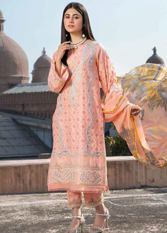 Charizma Embroidered Lawn Suits Unstitched 3 Piece CRZ21LS CSL-07 - Summer Collection