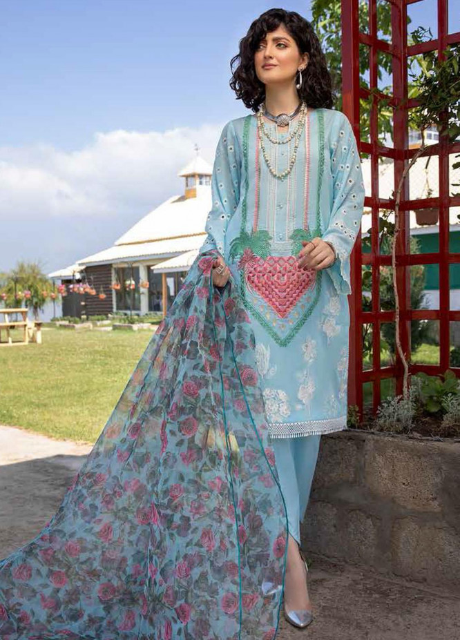 Charizma Embroidered Lawn Suits Unstitched 3 Piece CRZ21LS CSL-09 - Summer Collection