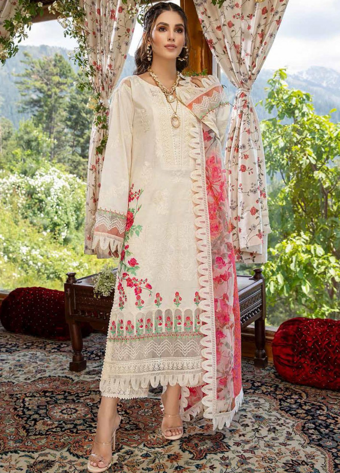 Charizma Embroidered Lawn Suits Unstitched 3 Piece CRZ21SM ED-14 - Festive Collection