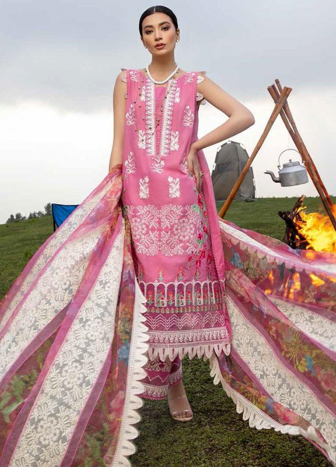Charizma Embroidered Lawn Suits Unstitched 3 Piece CRZ21SM ED-17 - Festive Collection