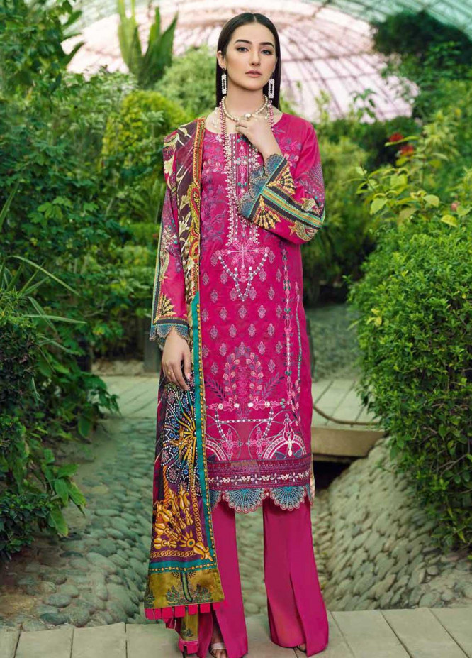 Chevron by Ramsha Embroidered Lawn Suits Unstitched 3 Piece RSH21-CH5 502 - Luxury Collection