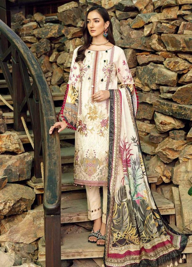 Chevron by Ramsha Embroidered Lawn Suits Unstitched 3 Piece RSH21-CH5 504 - Luxury Collection
