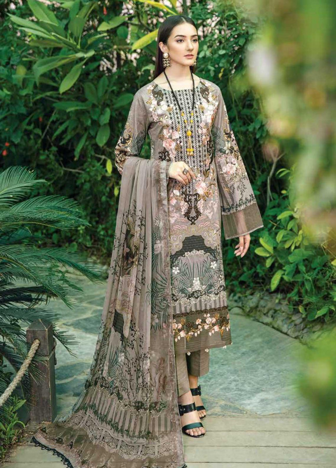 Chevron by Ramsha Embroidered Lawn Suits Unstitched 3 Piece RSH21-CH5 507 - Luxury Collection