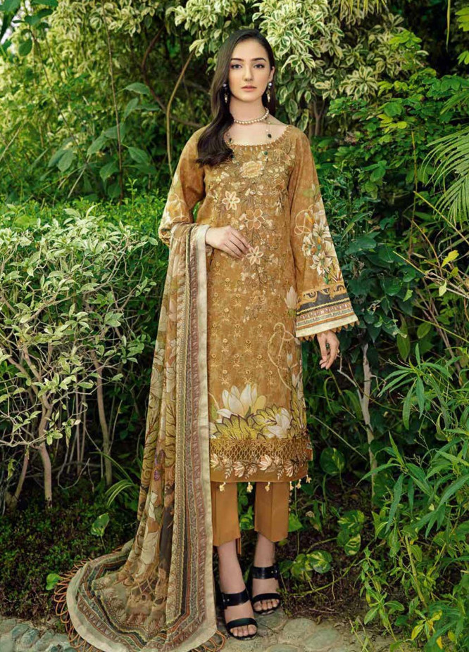 Chevron by Ramsha Embroidered Lawn Suits Unstitched 3 Piece RSH21-CH5 510 - Luxury Collection