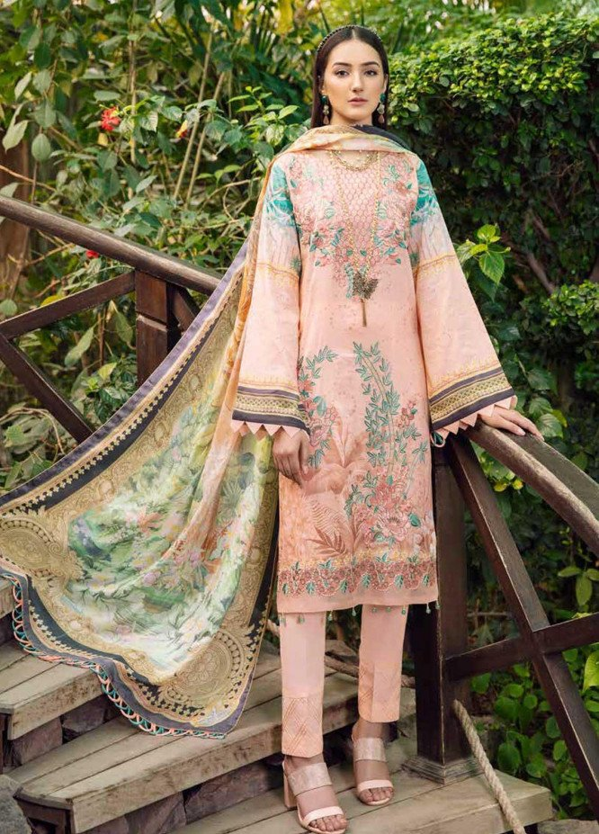 Chevron by Ramsha Embroidered Lawn Suits Unstitched 3 Piece RSH21-CH5 511 - Luxury Collection