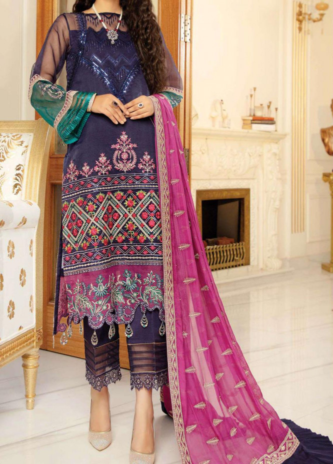 Chimere by Serene Embroidered Organza Unstitched 3 Piece Suit SP21C 1024 Sugar Rush - Premium Collection