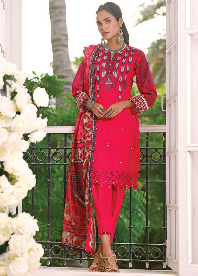 Coco by Al Zohaib Embroidered Cambric Suits Unstitched 3 Piece AZ21CC D-03 - Winter Collection
