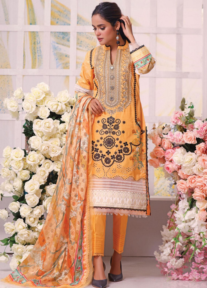 Coco by Al Zohaib Embroidered Cambric Suits Unstitched 3 Piece AZ21CC D-04 - Winter Collection