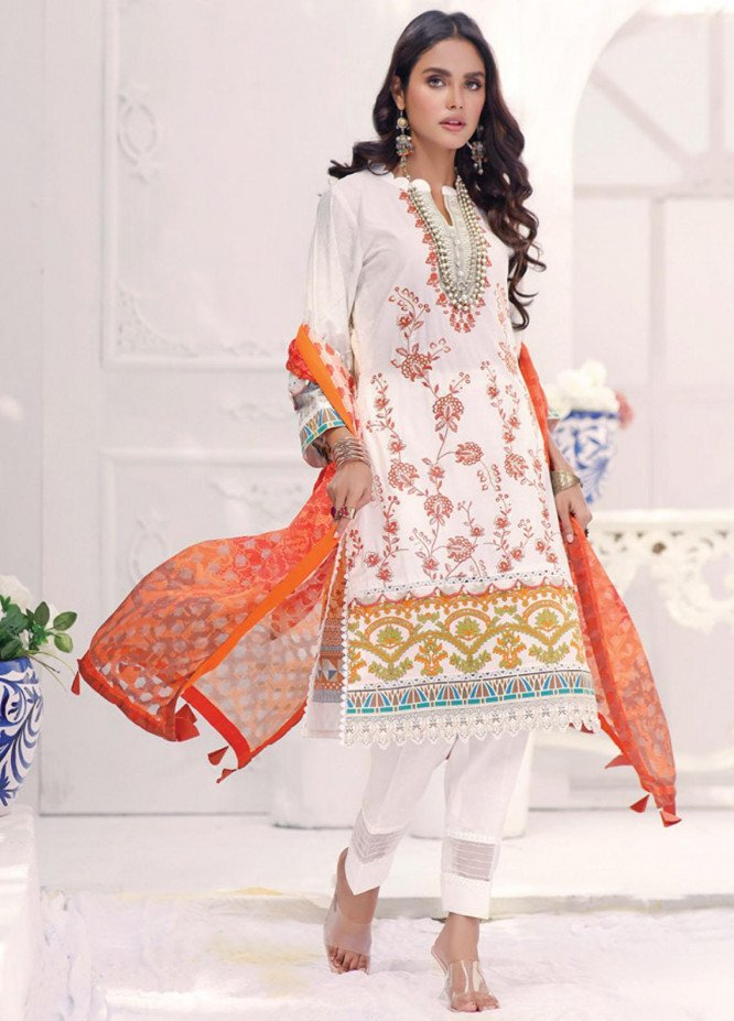 Coco by Al Zohaib Embroidered Cambric Suits Unstitched 3 Piece AZ21CC D-06 - Winter Collection