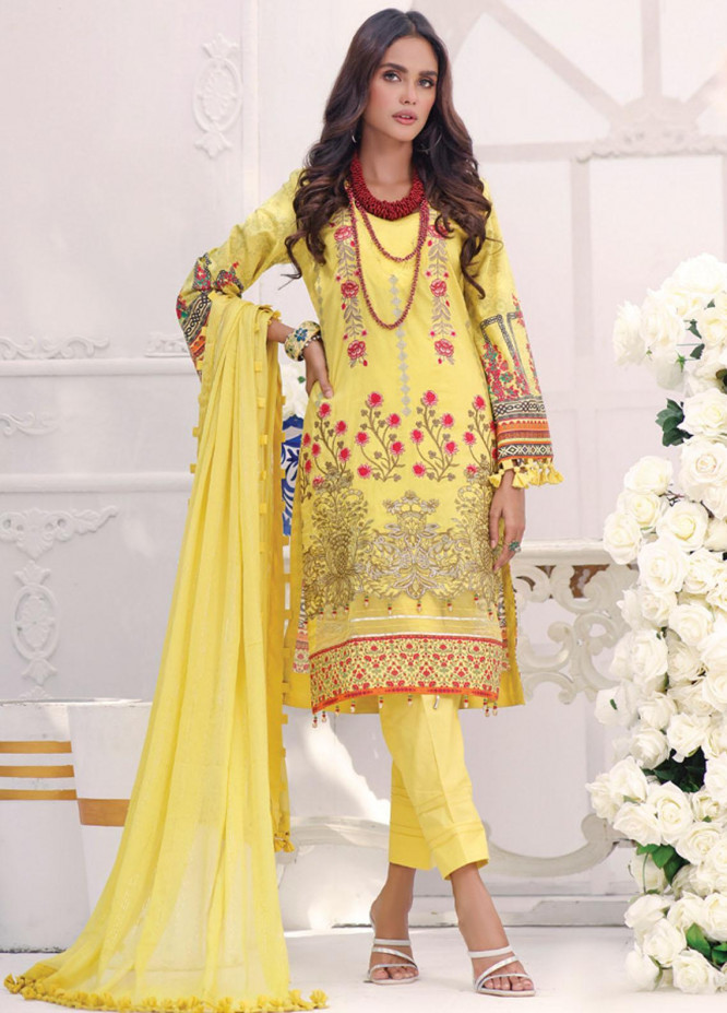 Coco by Al Zohaib Embroidered Cambric Suits Unstitched 3 Piece AZ21CC D-08 - Winter Collection