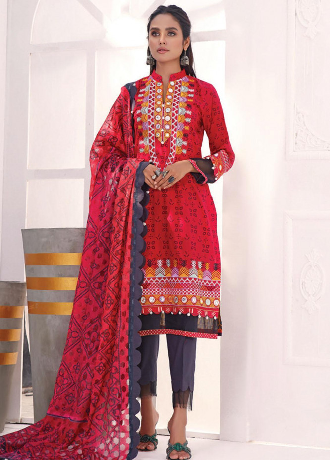 Coco by Al Zohaib Embroidered Cambric Suits Unstitched 3 Piece AZ21CC D-09 - Winter Collection