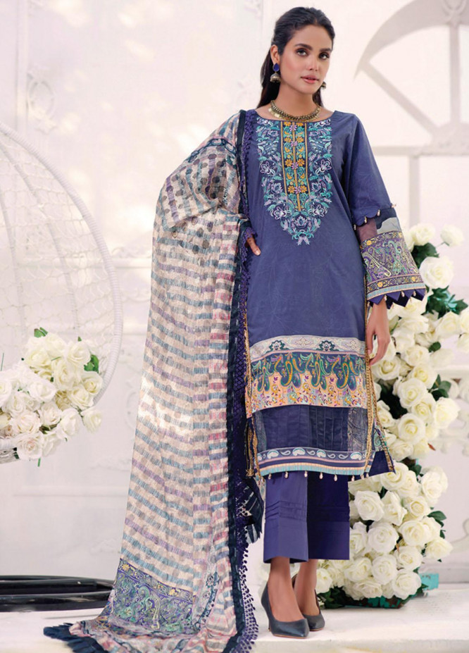 Coco by Al Zohaib Embroidered Cambric Suits Unstitched 3 Piece AZ21CC D-10-A - Winter Collection