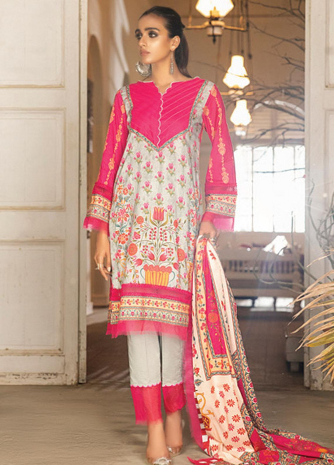Coco by Al Zohaib Printed Lawn Suits Unstitched 3 Piece AZ21PC D-18 - Summer Collection