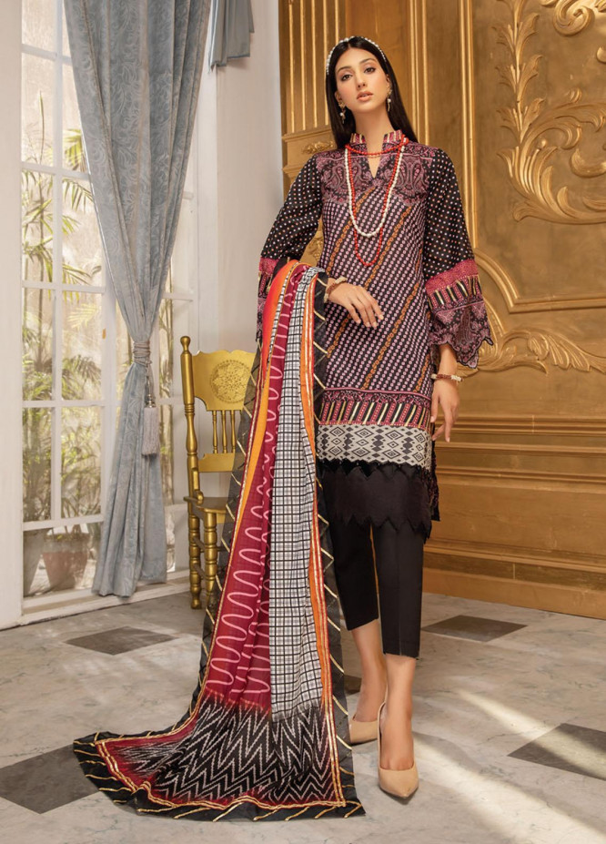 Coco by Al Zohaib Printed Lawn Suits Unstitched 3 Piece AZ21-PC2 03 - Summer Collection