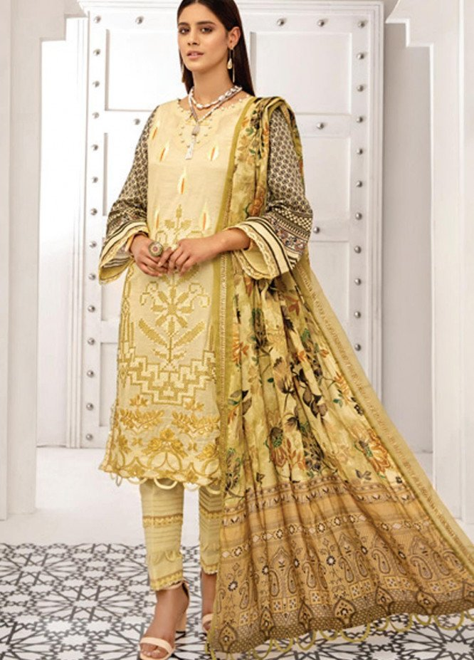 Coco by Al Zohaib Embroidered Lawn Suits Unstitched 3 Piece AZ21C D-01 - Summer Collection
