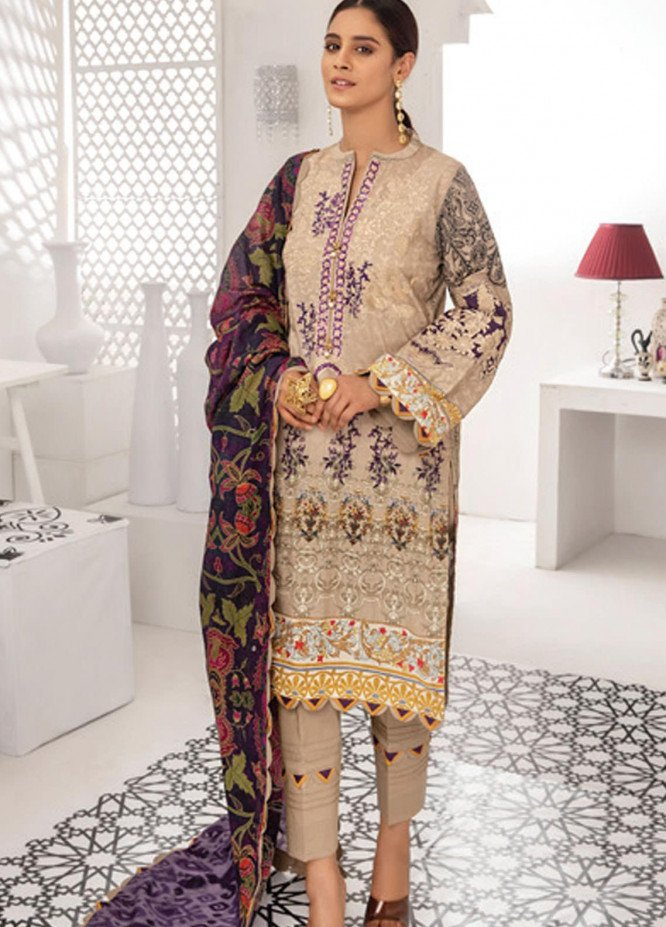 Coco by Al Zohaib Embroidered Lawn Suits Unstitched 3 Piece AZ21C D-012 - Summer Collection