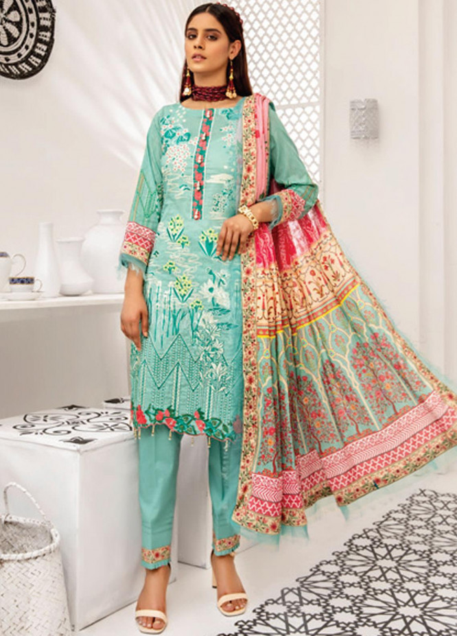Coco by Al Zohaib Embroidered Lawn Suits Unstitched 3 Piece AZ21C D-03 - Summer Collection