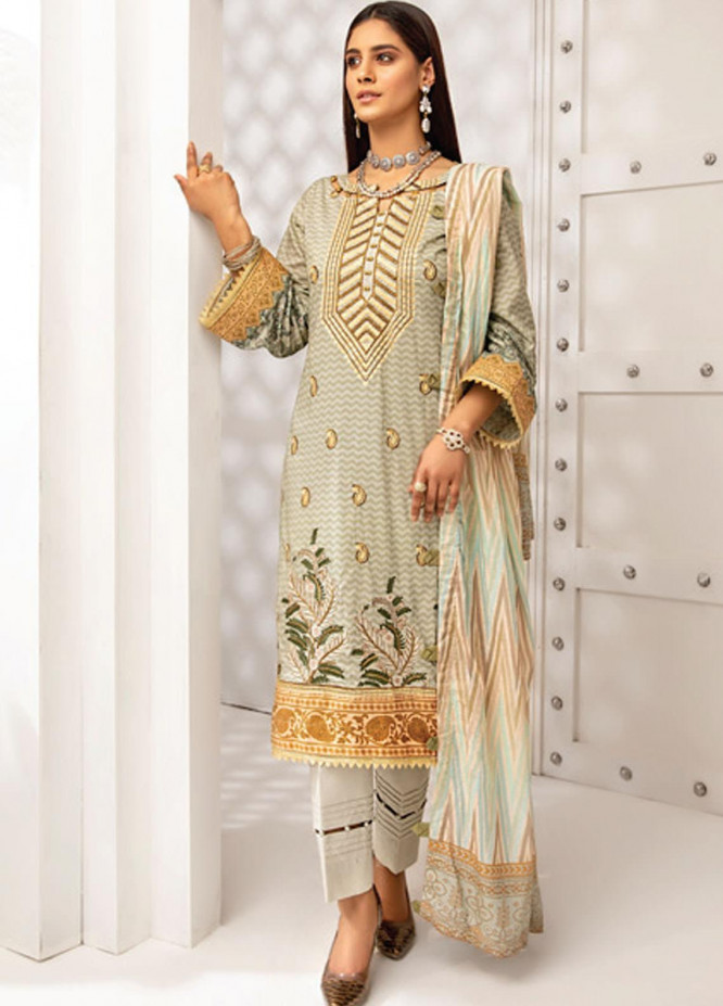 Coco by Al Zohaib Embroidered Lawn Suits Unstitched 3 Piece AZ21C D-05 - Summer Collection