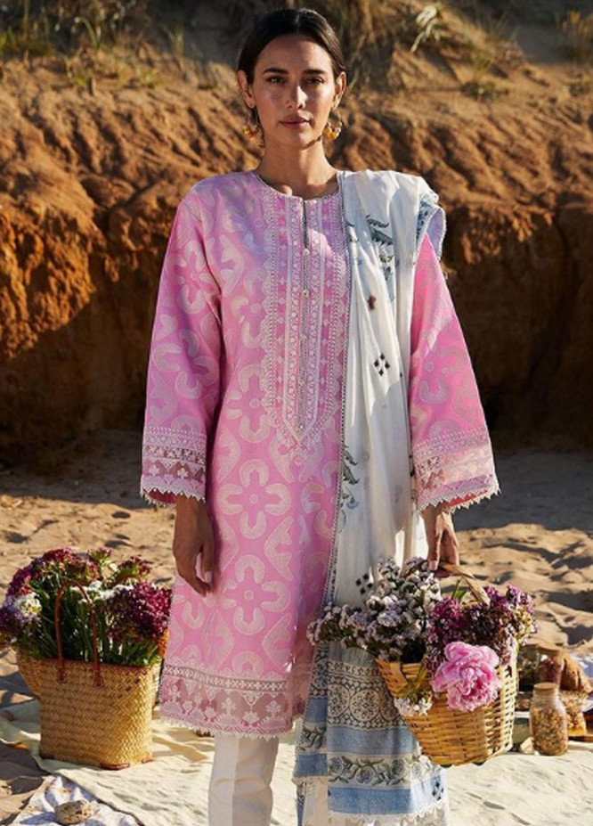 Coco By Zara Shahjahan Embroidered Lawn Suits Unstitched 3 Piece CZS21L 04A - Luxury Collection