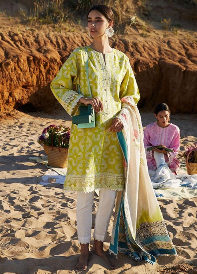 Coco By Zara Shahjahan Embroidered Lawn Suits Unstitched 3 Piece CZS21L 04B - Luxury Collection