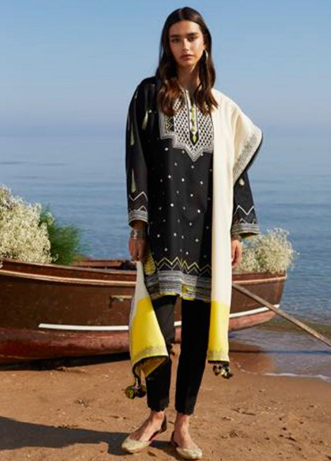 Coco By Zara Shahjahan Embroidered Lawn Suits Unstitched 3 Piece CZS21L 07A - Luxury Collection