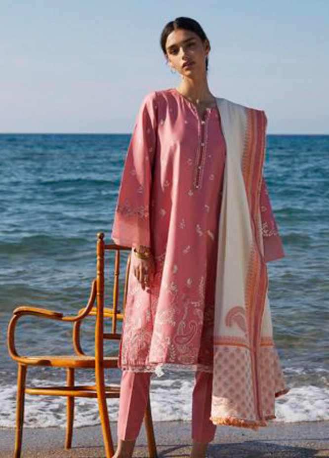 Coco By Zara Shahjahan Embroidered Lawn Suits Unstitched 3 Piece CZS21L 08B - Luxury Collection
