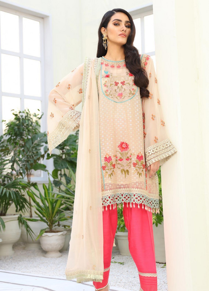 COIR Embroidered Chiffon Unstitched 3 Piece Suit CO19-C5 03 COALES CANCE - Luxury Collection