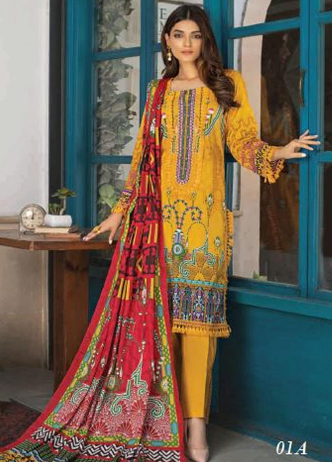 Colors by Al Zohaib Printed Lawn Unstitched 3 Piece Suit AZ20CL 01-A - Spring / Summer Collection