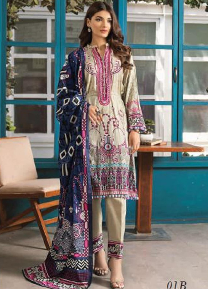 Colors by Al Zohaib Printed Lawn Unstitched 3 Piece Suit AZ20CL 01-B - Spring / Summer Collection